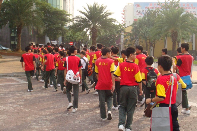 Figure 5: SDJ students were heading to Bazaar Johor Bahru